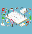 ui design process isometric flat concept vector image
