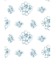 Vintage Wild Flowers Rosette Seamless Pattern vector image vector image