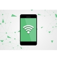Wifi connection by mobile phone tech background vector image