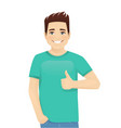 young man gesturing ok sign vector image vector image