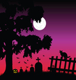 sweet and beauty cementery with bats vector image