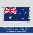 australian flag flat - artistic brush strokes and vector image