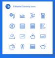 16 economy icons vector image vector image