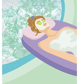 Abstract card - relax in the spa vector image vector image
