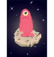 Alien Lost in Space Sad Monster vector image