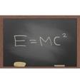 blackboard in wooden frame vector image vector image