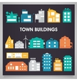 Buildings and houses collection vector image