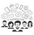business team management in vector image vector image