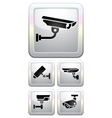 CCTV labels video surveillance vector image vector image