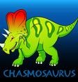 Chasmosaurus cute character dinosaurs vector image vector image