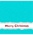 Christmas congratulation torn blue paper vector image vector image