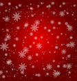 christmas snowflake with night star light and snow vector image vector image