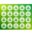 christmas tree shape carved flat icons set vector image vector image
