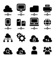 cloud computing technology icon set vector image