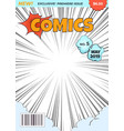 comics magazine cover comic book superhero title vector image