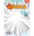 comics magazine cover comic book superhero title vector image vector image