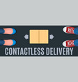 contactless delivery banner vector image