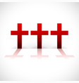 cross composition in red vector image