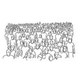 crowd of people standing sketch vector image vector image
