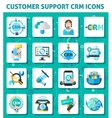Customer Support Icons Set vector image