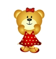 Cute Cartoon Girl Bear vector image vector image