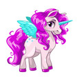 cute unicorn princess icon vector image vector image