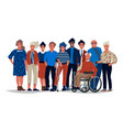 diverse society people group different vector image vector image