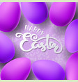 easter with egg vector image vector image