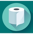 Flat Toilet Paper Icon vector image vector image