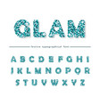 glitter confetti blue font isolated on white vector image vector image