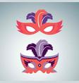 happy brazilian carnival day set of 2 orange vector image vector image