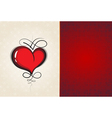 Heart with vintage pattern Abstract Valentine card vector image vector image