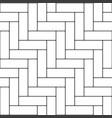 herringbone parquet pattern vector image vector image
