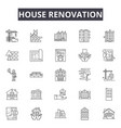 house renovation company line icons signs vector image vector image