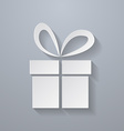 Icon of Gift Paper style vector image vector image