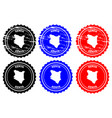kenya rubber stamp vector image vector image