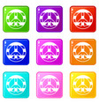 lgbt peace sign set 9 vector image vector image