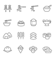 Lines icon set - Eastern food vector image vector image