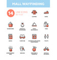 mall wayfinding - modern simple icons pictograms vector image vector image