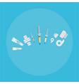 medical equipment flat web and print of syringes vector image