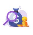 money finance savings check concept vector image vector image