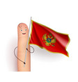montenegro waving flag vector image vector image