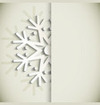 New Year snowflakes greeting card vector image vector image