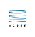 ocean symbol logo design templ vector image