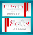 paper sale cards in paper style vector image vector image
