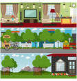 people and relations interior concept flat vector image vector image