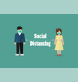 people keeping distance for infection risk vector image