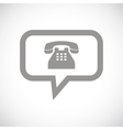 Phone black icon vector image vector image