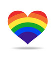 rainbow heart love logo icon vector image