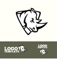 rhino logo concept for sport teams brands vector image